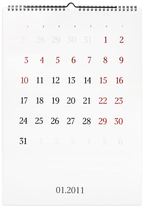 календарь на 2011 год.