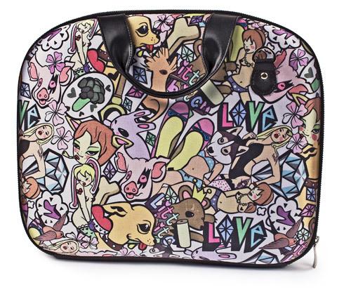 Цветной портфель для бумаг или чехол для ноутбука.